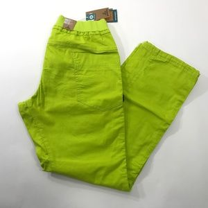 Prana Mens Organic Cotton Pant Lime M AA00012